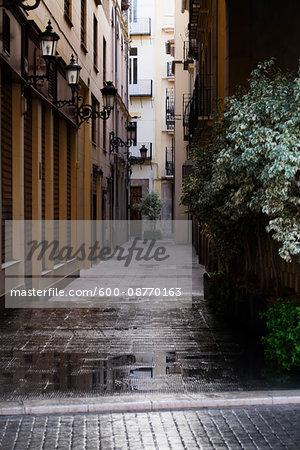 Narrow Street in Valencia, Spain