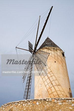 Windmill at Palma, Mallorca, Spain