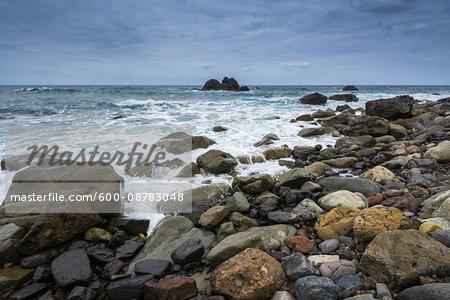 Rock Beach at Punta de Santiago, Benijo, Tenerife, Canary Islands, Spain