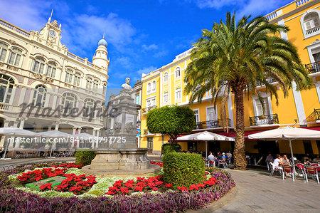 Plaza de Cairasco, Triana, Las Palmas de Gran Canaria, Gran Canaria, Canary Islands, Spain, Atlantic, Europe