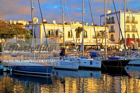 Harbour at Puerto de Morgan, Gran Canaria, Canary Islands, Spain, Atlantic Ocean, Europe