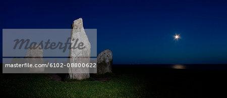Ales stones, an ancient monument, Sweden.
