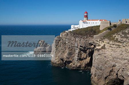 Lighthouse, Cape San Vicente, Sagres, Algarve, Portugal, Europe