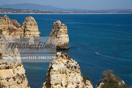View from Ponta da Piedade, Lagos, Algarve, Portugal, Europe