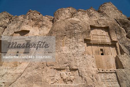 Tombs of Ataxerxes I and Darius the Great, Naqsh-e Rostam Necropolis, near Persepolis, Iran, Middle East