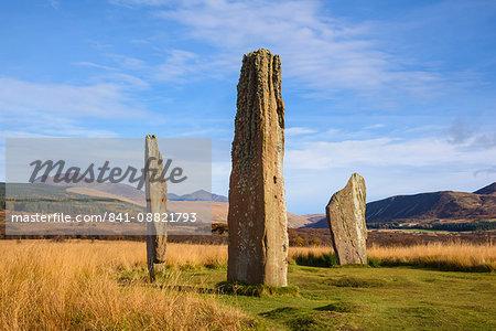 Machrie Moor stone circles, Isle of Arran, North Ayrshire, Scotland, United Kingdom, Europe