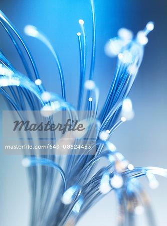Bundle of fibre optic cables