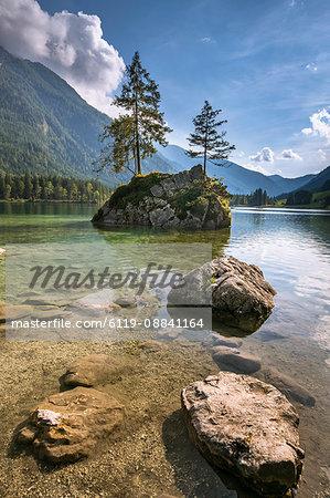 Lake Hintersee, Berchtesgadener Alpen, Bavaria, Germany, Europe