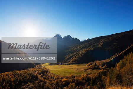 Le Tour, autumn, Chamonix, Haute Savoie, Rhone Alpes, French Alps, France, Europe
