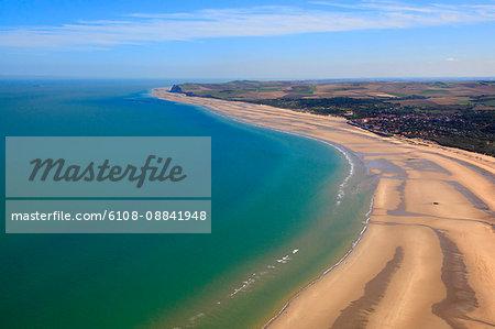 France, Northern France, Pas de Calais. Wissant Bay.
