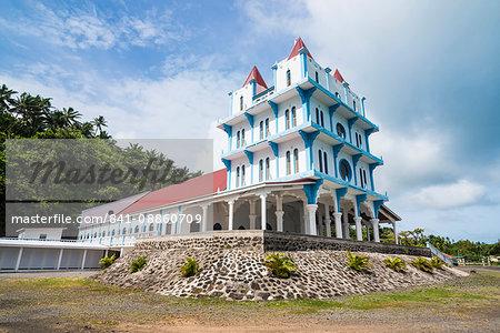Lausikula church, Wallis, Wallis and Futuna, South Pacific, Pacific
