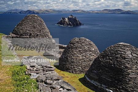 Monastery on Skellig Michael, UNESCO World Heritage Site, County Kerry, Munster, Republic of Ireland, Europe