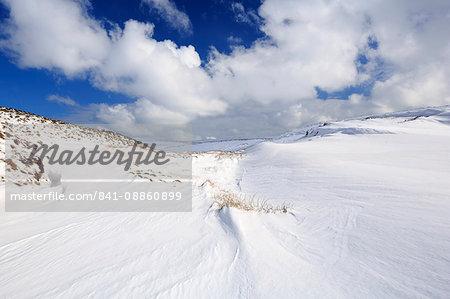 Snow, Cushleake Mountain, County Antrim, Ulster, Northern Ireland, United Kingdom, Europe
