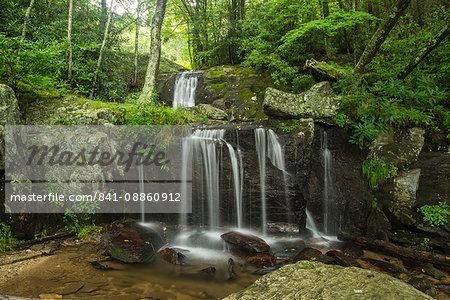 Waterfall, Blue Ridge Mountains, North Carolina, United States of America, North America