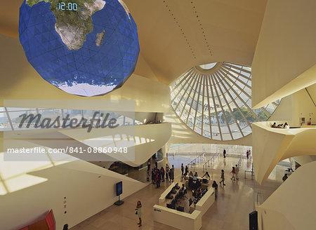 Interior of the Museum of Tomorrow (Museu do Amanha) by Santiago Calatrava, Praca Maua, Rio de Janeiro, Brazil, South America