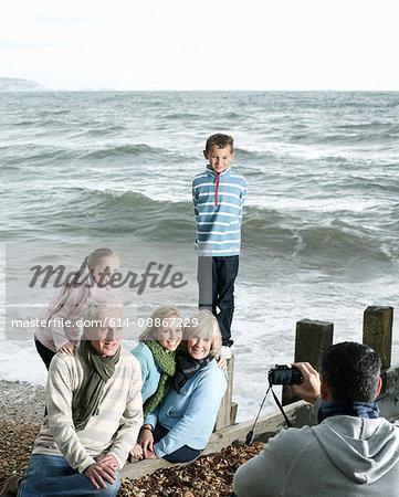 Family Photograph at Beach