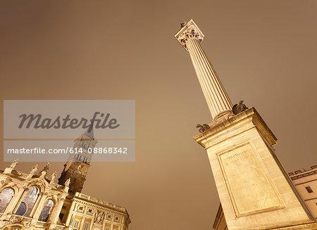 Low angle view of papal basilica