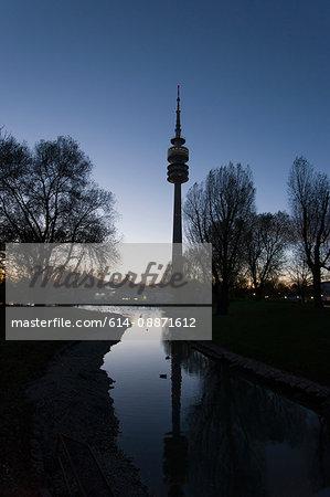 1972 Olympic Tower (Olympiaturm), Munich, Bavaria, Germany