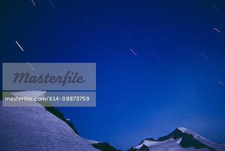Eldorado Peak and night sky, North Cascades National Park, WA, USA
