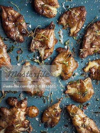 Jerusalem artichoke on table