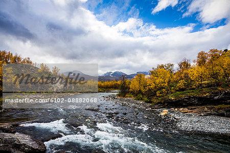 River in rolling landscape