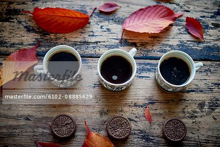 Autumn coffee break