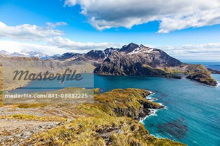 View over Godthul, South Georgia, Antarctica, Polar Regions