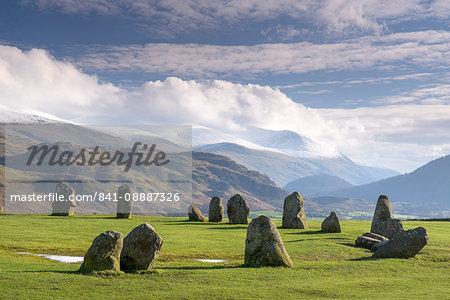 Castlerigg Stone Circle, near Keswick, Lake District National Park, Cumbria, England, United Kingdom, Europe