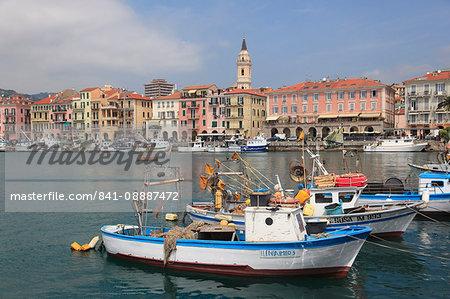 Harbor, Oneglia, Imperia, Liguria, Italian Riviera, Italy, Europe