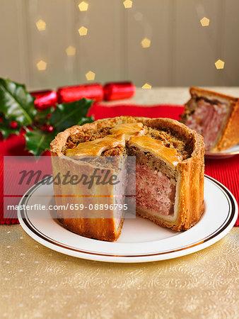Pork Turkey And Stuffing Pie