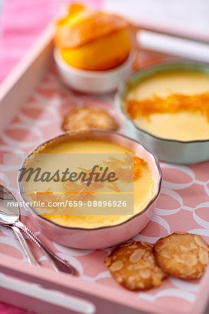 Orange cream with caramel