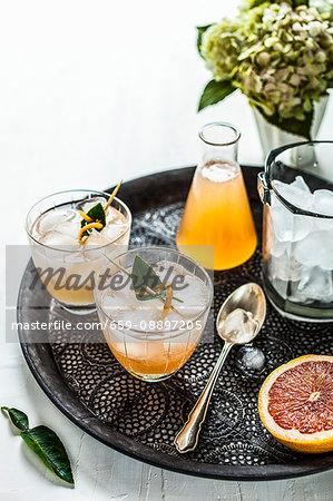 Grapefruit and Kaffir Lime Cocktail