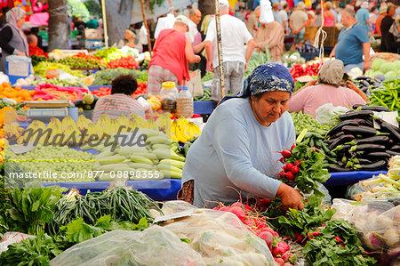 Turkey, province of Mugla, Dalyan, the weekly market