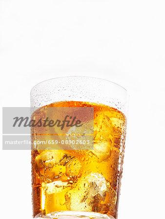 A glass of iced tea