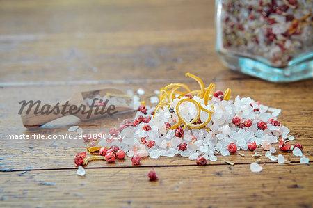Lemon & rosemary salt with red peppercorns