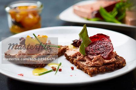 Liver pâté on wholemeal bread