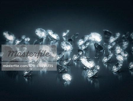 Diamonds against black background.