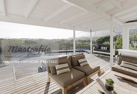 Sunny home showcase luxury patio