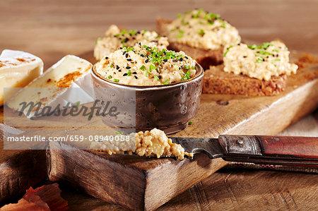 Camembert dip with rose peppers