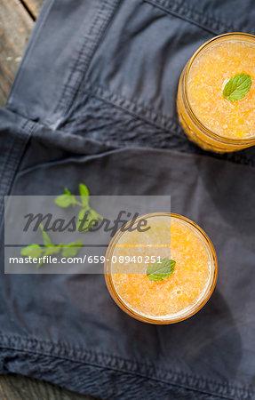 Citrus fruit juice made with oranges, grapefruit, lemon and mint