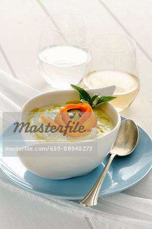 Cold courgette soup