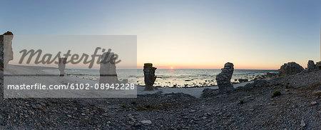 Sea stacks at Gotland, Sweden