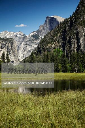 Half Dome mountain in Yosemite National Park in California, USA