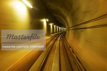SkyTrain tunnel in Vancouver, BC, Canada