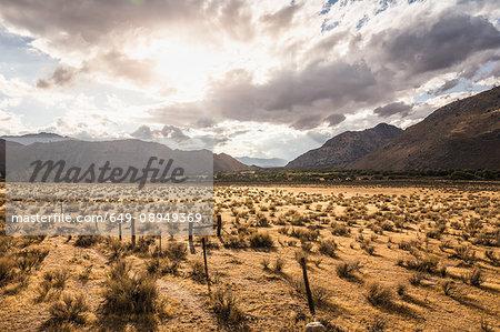 Landscape view of mountains near Lake Isabella, California, USA