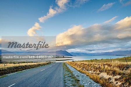 Route to Lake Tekapo, New Zealand