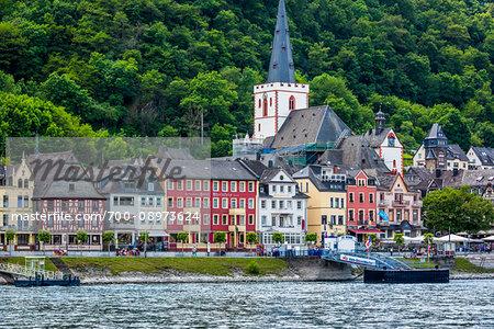 St Katz along the Rhine between Rudesheim and Koblenz, Germany