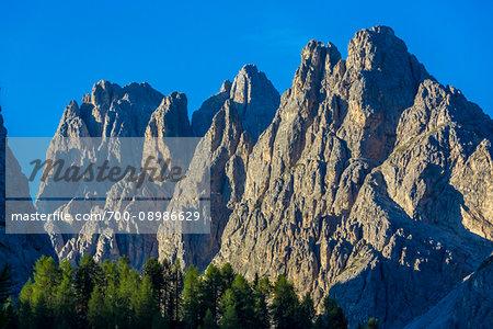 Close-up of the The Dolomites near the Three Peaks of Lavaredo (Tre Cime di Lavaredo), Auronzo di Cadore, Italy