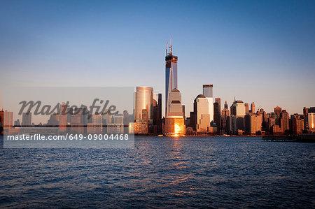 Skyline of Manhattan (view from Jersey City), New York City, USA