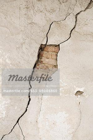 Full frame shot of damaged wall